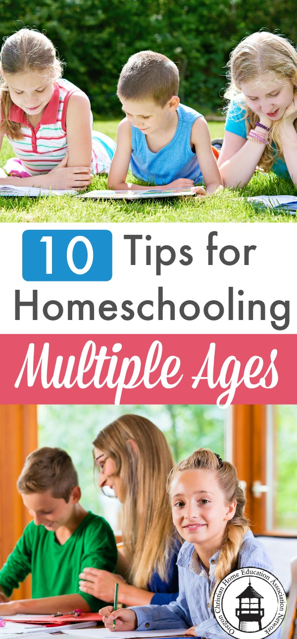 Trying to juggle a range of kids? Here are 10 tips for homeschooling multiple ages to help you out!