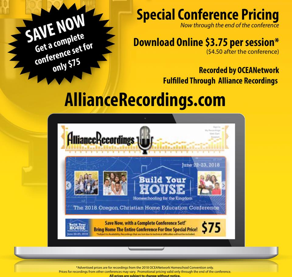 Oregon homeschool conference recordings 2018 OCEANetwork conference