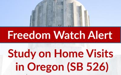 ALERT: Study on home visits in Oregon (SB 526)