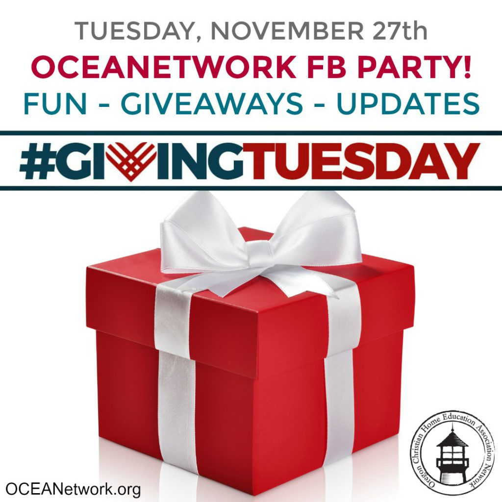 OCEANetwork GivingTuesday is all about supporting Oregon homeschoolers!