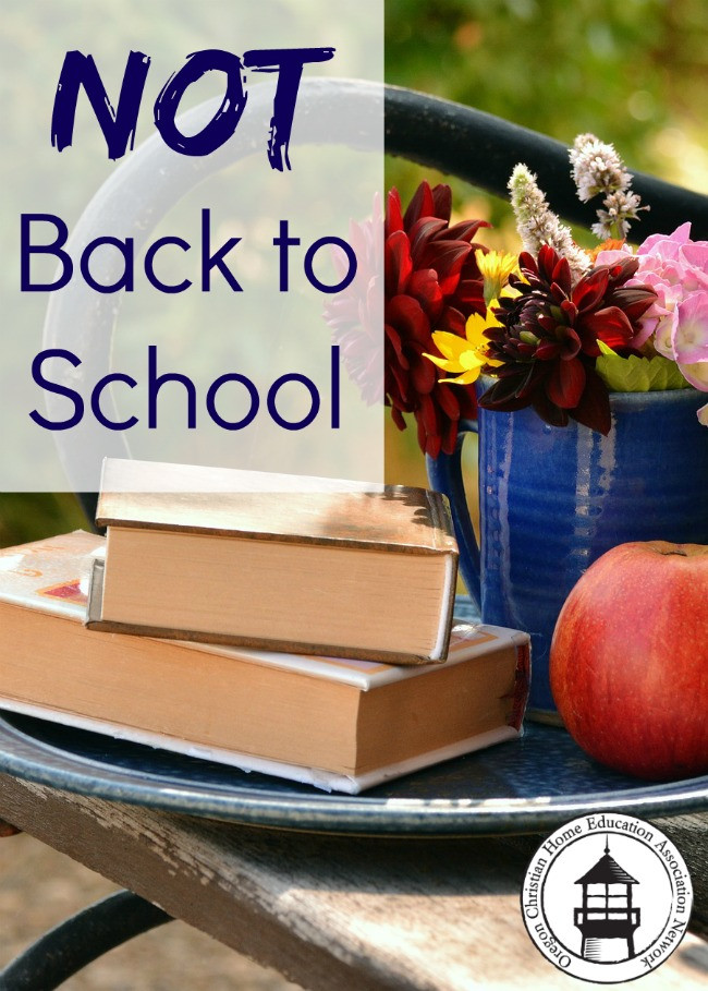 When it's not back to school time for homeschoolers in Oregon!