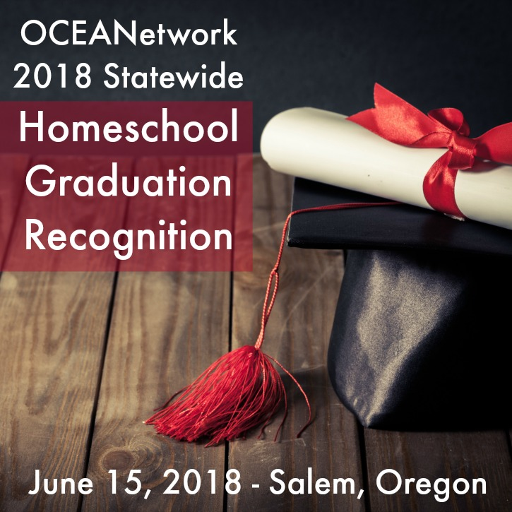 Each year OCEANetwork organizes a graduate recognition event for Oregon homeschoolers who have completed their program. It is a special time of celebration, reflection, and encouragement as our young men and women transition to an exciting new stage of life! The next graduate recognition event happens June 15th, 2018 in Salem, Oregon. Find out more and register for the 2018 OCEANetwork Statewide Homeschool Graduation Recognition event!