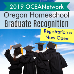 Have a high school homeschooling student in Oregon who is graduating this year? Join us for the annual Oregon Homeschool Graduate Recognition event! A statewide event hosted by OCEANetwork to celebrate the hard work of graduates and their families. #homeschooloregon