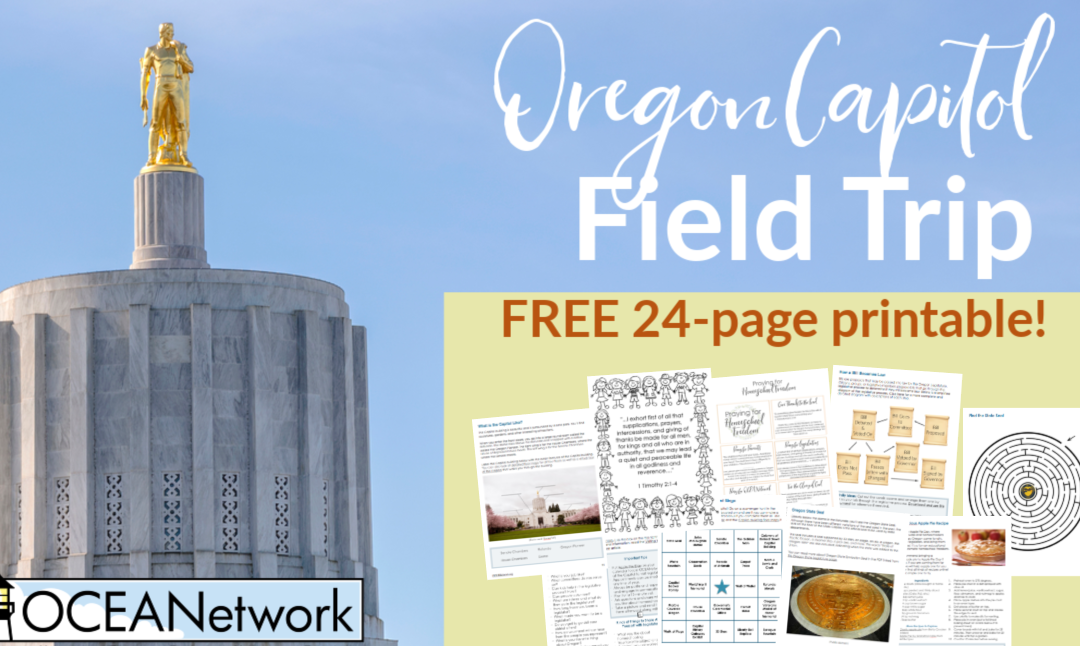Oregon Capitol Field Trip Printable