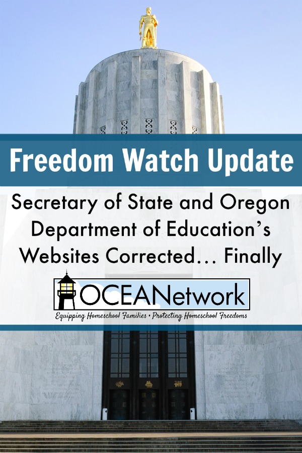 Freedom Watch Update Websites Corrected OCEANetwork Oregon ages for testing