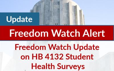 Freedom Watch Update on HB 4132 Student Health Surveys