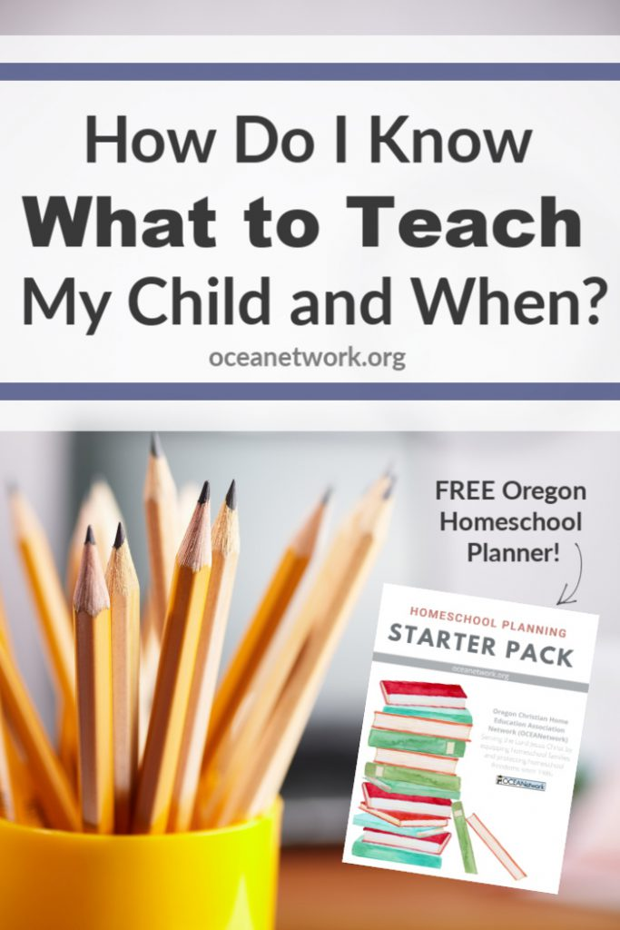 Wondering what to teach children at different stages? Here is some guidance on what to teach and when in your homeschool, as well as a FREE printable homeschool planner!