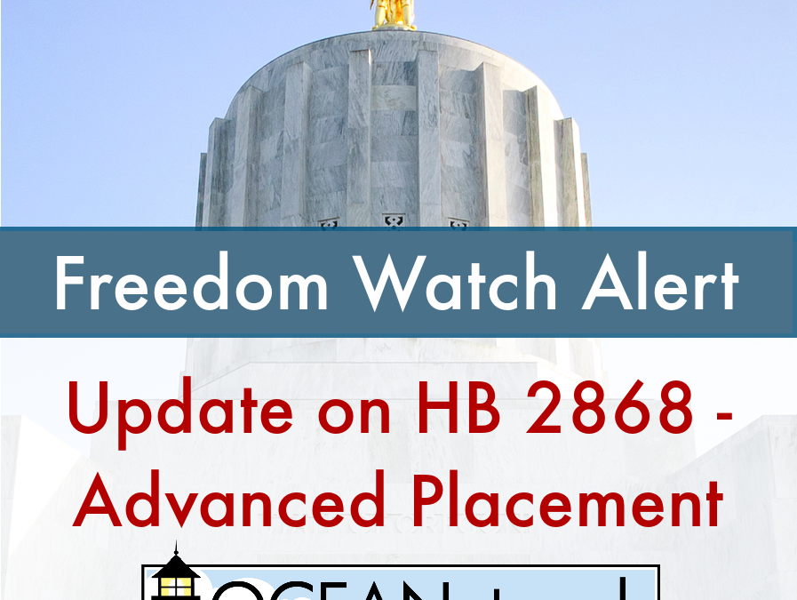 UPDATE on HB 2868 – Advanced Placement Program
