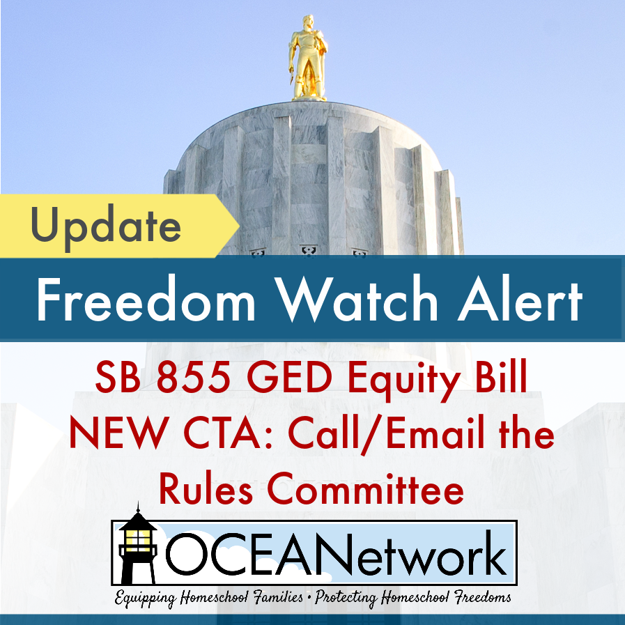 SB 855 GED Equity Bill - Freedom Watch Alert from OCEANetwork