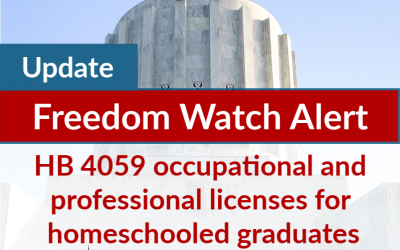 Update on HB 4059 occupational and professional licenses for homeschooled graduates