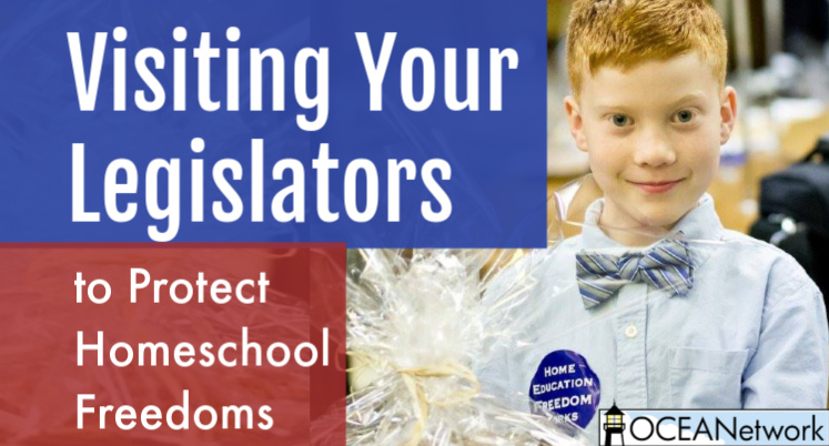 Visiting Your Legislators to Protect Homeschool Freedoms
