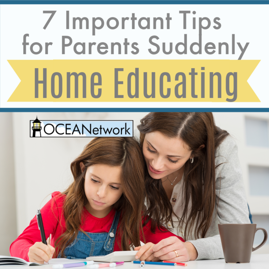 Do you find yourself suddenly thrust into home education due to a crisis? Here are 7 tips to help!