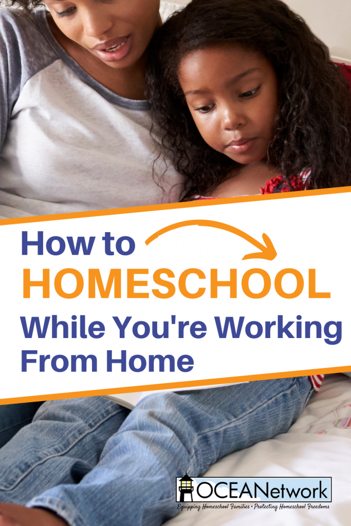 how to homeschool while working from home
