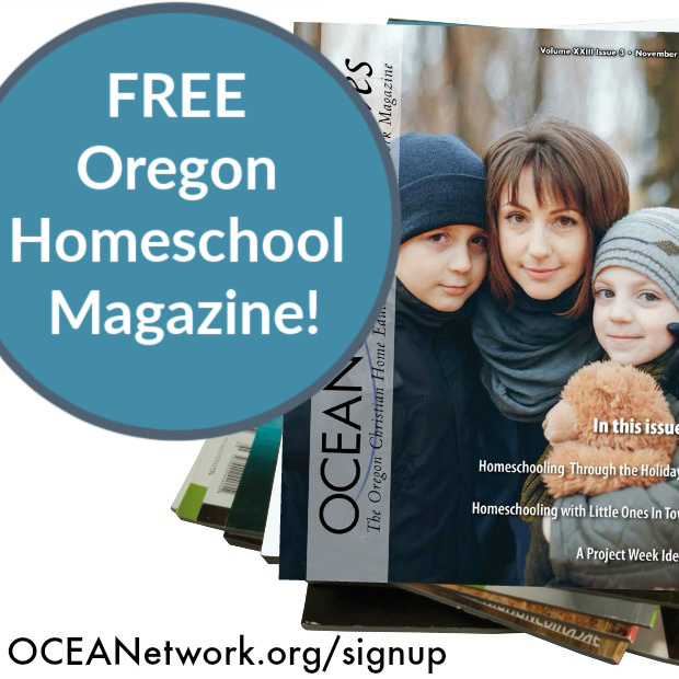 Homeschooling in Oregon? Sign up for the FREE Oregon homeschool magazine - OCEANetwork Waves!