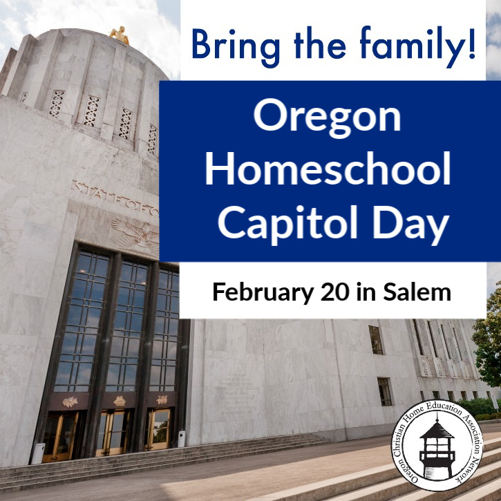 Oregon Homeschool Capitol Day by OCEANetwork! Come to Salem for an educational opportunity that promotes homeschool freedoms for Oregon families!