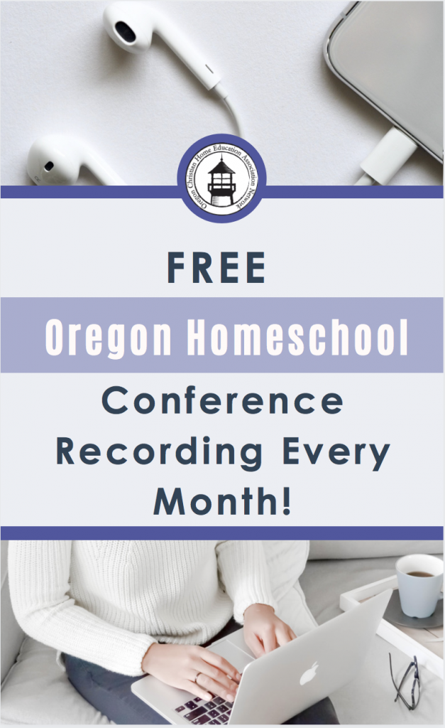 Get encouragement for your journey as you homeschool in Oregon with this FREE monthly OCEANetwork conference recording!